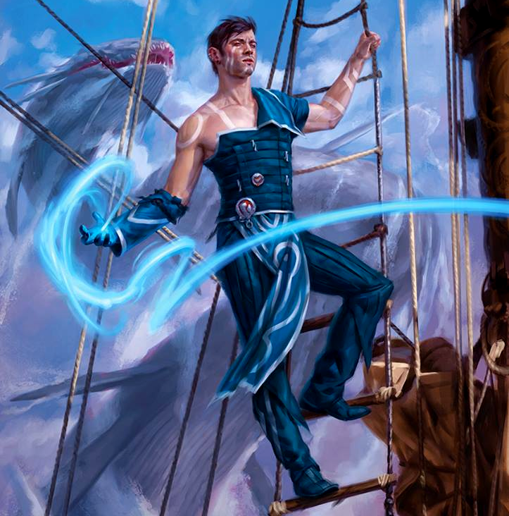 Jace, Cunning Castaway; art from the Ixalan Magic set by Kieran Yanner