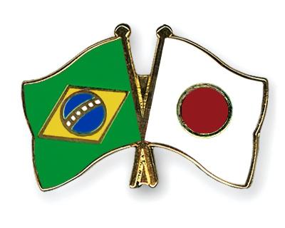 Flag Pins Brazil Japan