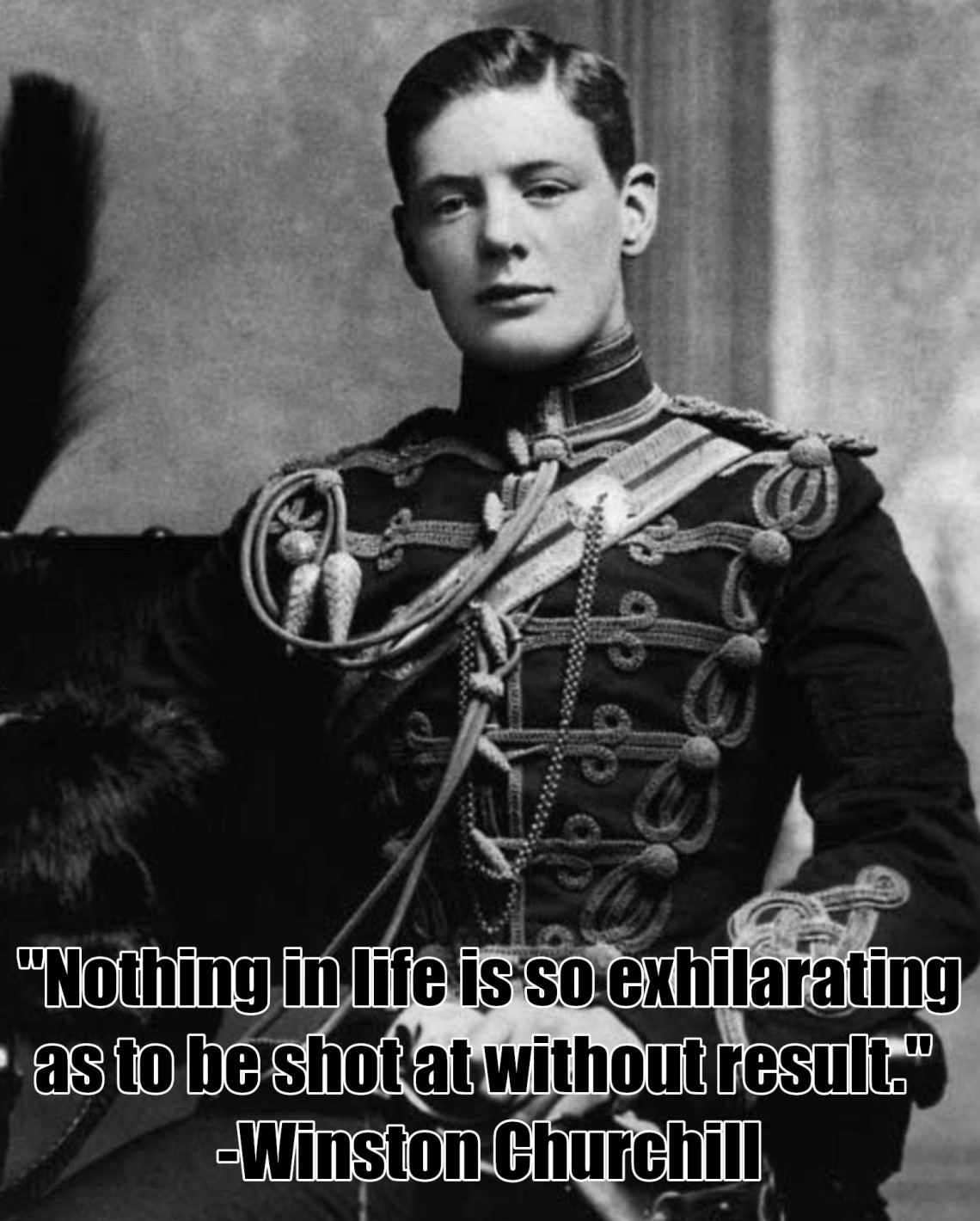 Young Winston Churchill Nothing is So Exhilirating